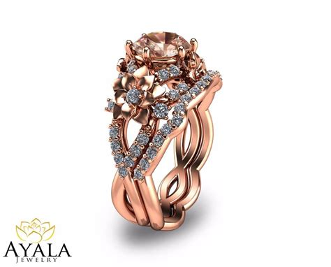 14k gold morganite engagement rings unique morganite engagement ring ebay