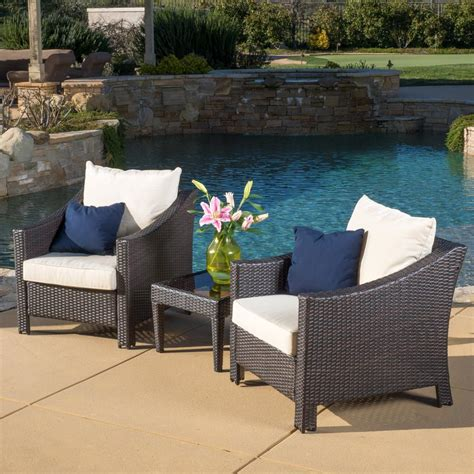 Small Wicker Patio Sets by Antibes Multi Brown 3 Wicker Patio Conversation Set