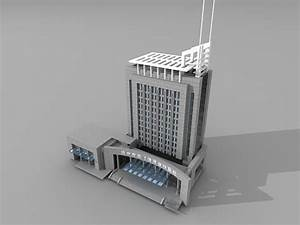 China bank building 3d model 3ds Max files free download ...