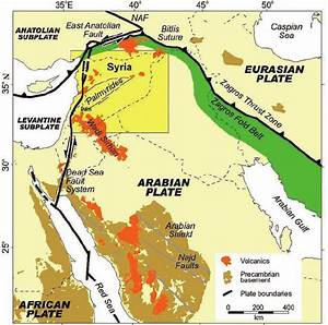 Regional Tectonic Map Of The Northern Arabian Plate And