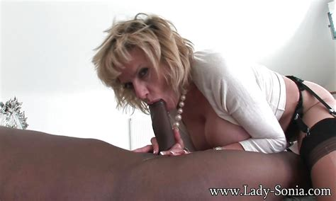 Interracial Oral Sex Scene Revealing Busty Mature Slut