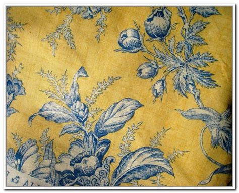 Blue And Yellow Toile Curtains