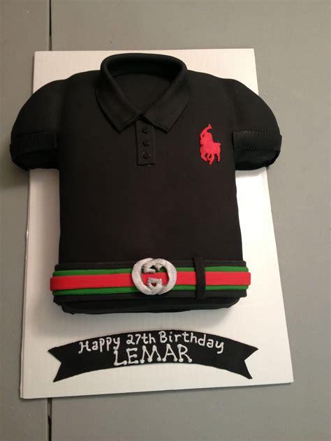 polo shirt cake  gucci belt   cakes pinterest