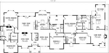 5 bedroom one story house plans luxury style house plans 4180 square foot home 1 story 5 bedroom and 3 bath garage stalls