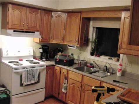 painting oak kitchen cabinets white    youtube