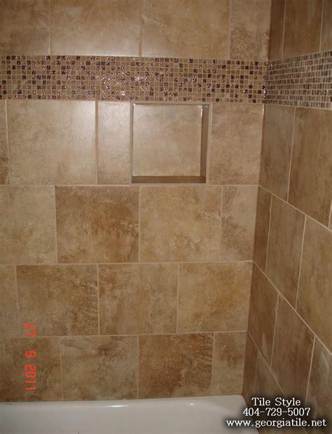 tile ga tile style travertine tub shower remodel alpharetta ga
