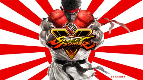Street Fighter V Ryu The Rising Sun Wallpaper Sign By