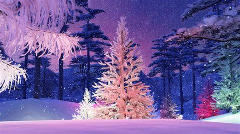 magischer weihnachtsbaum mit bunter lichtillustration