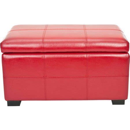 Small Upholstered Storage Bench by Safavieh Bicast Leather Upholstered Small Storage