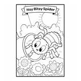Bitsy Itsy sketch template