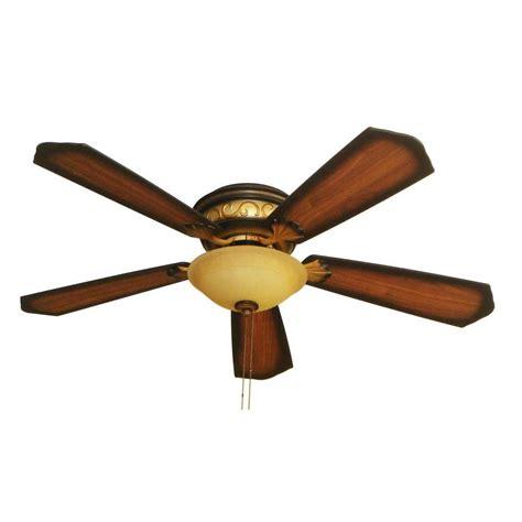 52 hugger ceiling fan hton bay celestite 52 in aged walnut hugger ceiling