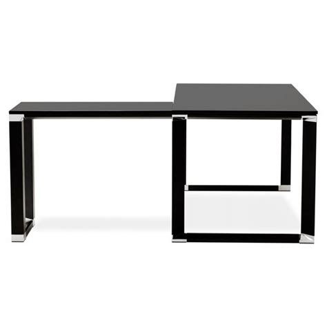bureau bois noir bureau d 39 angle design corporate en bois noir