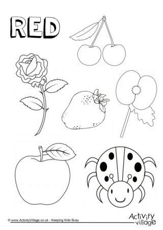things colouring page colors preschool color 639 | 59dd7636880efe8637d16bd810a40e93 red things colouring pages