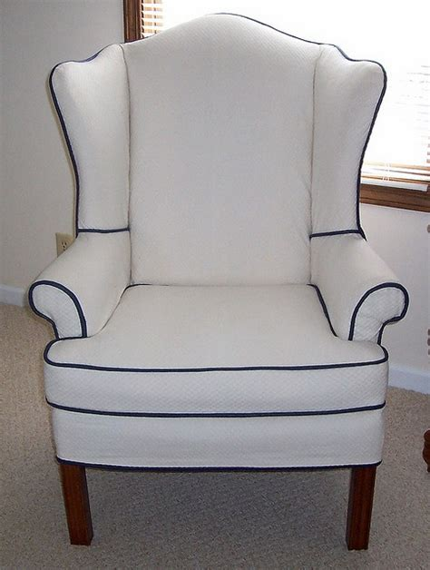 my own wing chair slipcover i made slipcovers