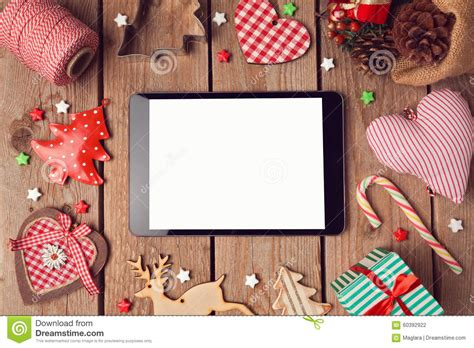 digital tablet mock   rustic christmas decorations