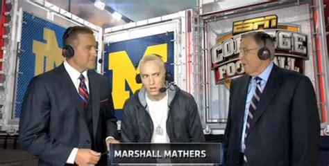 Eminem hits ESPN's 'Saturday Night Football,' gives ...