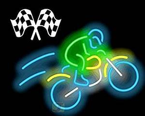 Motocross Rider with Bike Neon Sign Amazon