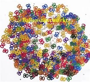 Besinnliches Zum 80 Geburtstag : ballonsupermarkt konfetti tischdeko zum 80 geburtstag konfetti geburtstag ~ Frokenaadalensverden.com Haus und Dekorationen