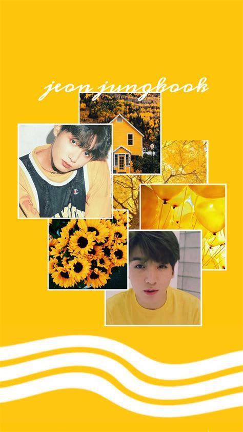 jungkook yellow aesthetic wallpapers