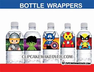 10 avengers kids superhero bottle labels With avengers water bottle labels