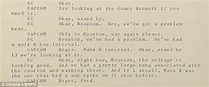 Transcript of Apollo 13's SOS to mission control is up for ...