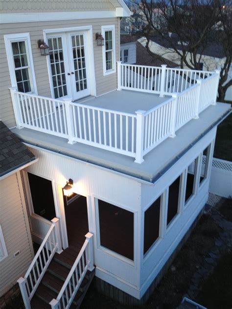 flat roof railings screened porch wife good zombie