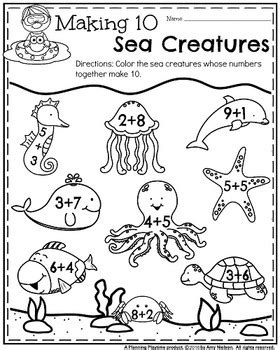 kindergarten math and literacy printables summer by 542 | original 2582220 4