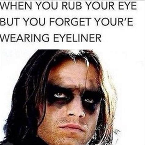 Mascara Meme - when you rub your eye but you forget you re wearing eyeliner memes and comics