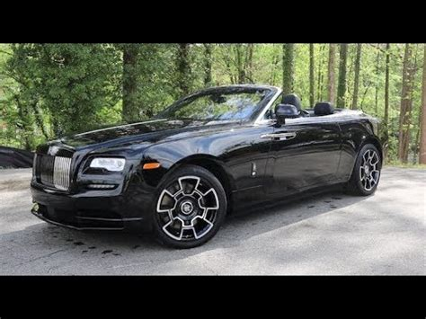 rolls royce dawn black badge technical review youtube