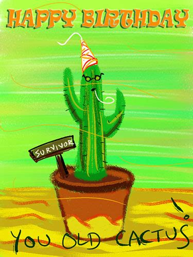 cactus  grandparents ecards greeting cards