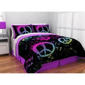latitude peace paint reversible bed in a bag bedding set walmart com