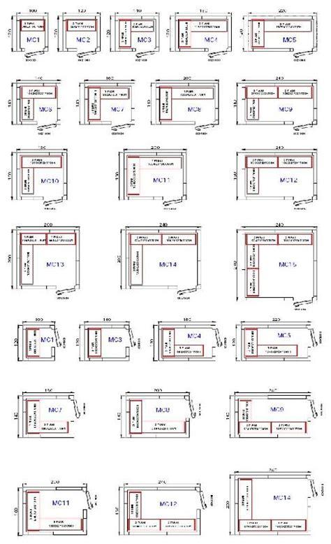 plan de chambre froide chambre froide avec groupe à cheval sur la paroi modèle mc15