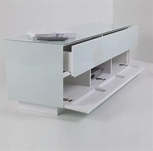 Meuble Tv 150 Cm : meuble banc tv ladida blanc meuble tv ~ Teatrodelosmanantiales.com Idées de Décoration