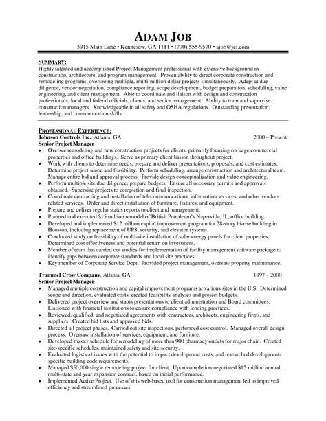 18 best best project management resume templates sles