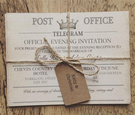 SAMPLE   Vintage Travel Wedding Invitation,Telegram Wedding,Destination Wedding Invitations