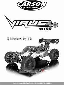 Carson Modelsport Virus V21 Manual