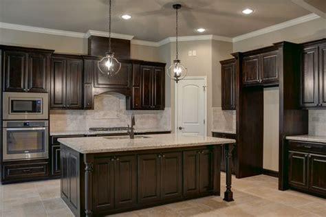 black walnut stained knotty alder cabinets kitchens