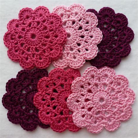 crochet coasters mini project crochet flower coasters wooly donut