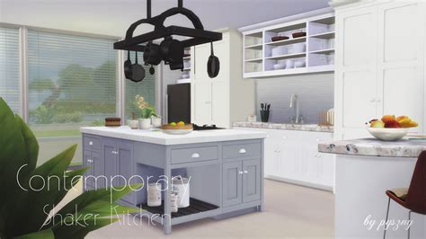 small kitchen island designs my sims 4 contemporary shaker kitchen set by pyszny