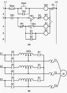 a hardwired relay circuit and b wiring diagram of a With ladder logic diagram and explain how it starts up the electric motor