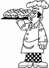 Panadero Boulangers Patissiers Boulanger Ocupaciones Boulangerie Colorier Imprimer sketch template