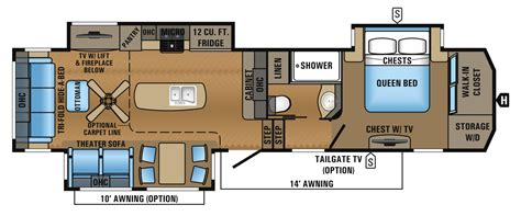 Jayco Fifth Wheel Floor Plans 2017 by 2017 Point Luxury Fifth Wheel Floorplans Prices