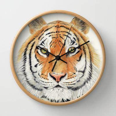 tiger wall clock clock illustration wall clock frame
