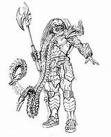 Predator Leader Clan Neca Alien Drawings Coloring Pages Vs Xenomorph Card Toyark Colouring Sketch Printable Aliens Series Cgi Mask Sci sketch template
