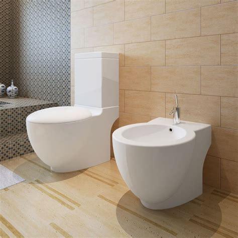 Toilet Bidet Set vidaxl co uk stand toilet bidet set white ceramic