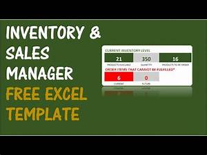 Order Template Excel Inventory And Sales Manager Excel Template Youtube