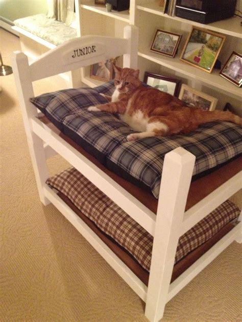 bunk bed cat condo easy    project diy bunk