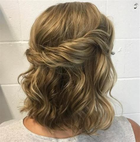 wavy haircuts with bangs 60 trendiest updos for medium length hair health 4442