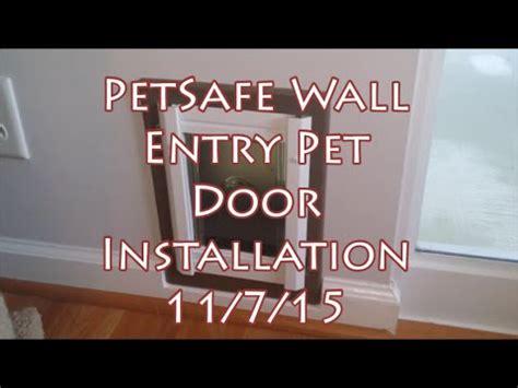 petsafe pet door installation petsafe small cat in wall pet door installation