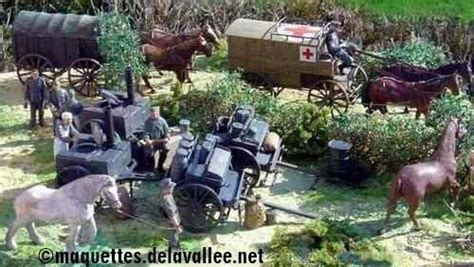 la cuisine est un diorama les véhicules hippomobiles maquettes militaires